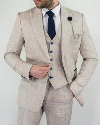 Impeccable Formal Wear Cavani Lightweight Three Piece Suit