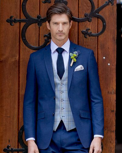 Impeccable Formal Wear Harcourt Blue Suit