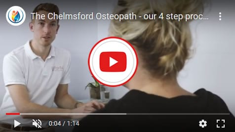 chelmsford osteopath - 4 step process video